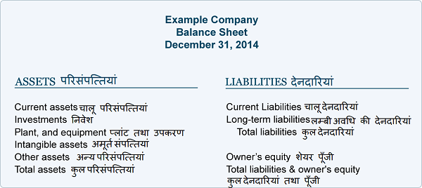 Balance Sheet in Hindi